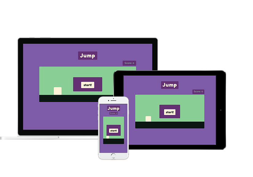 the same device mockup of the Jump app